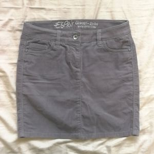 NWOT grey corduroy skirt